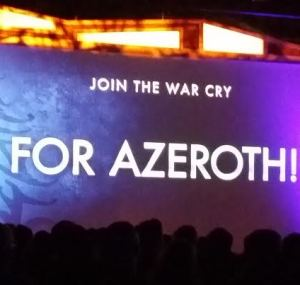 Blizzcon attendees will have their battle cries featured in the film!