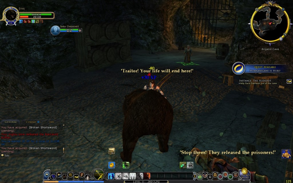 Combat as a bear feels no different than normal combat early on. For the defining feature of the class, it seems underwhelming at first glance. Hopefully with time this unique element to the game will shine through.