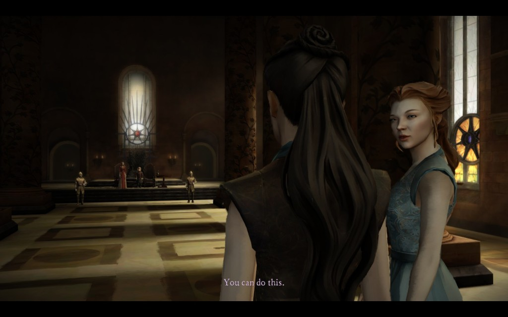 "Walking to ""chat"" with the Queen Regent and her Master of Coin is nerve-racking, even in game."