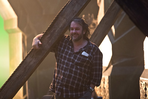 "Photo Credit: Todd Eyre Caption: Director PETER JACKSON on the set of the fantasy adventure ""THE HOBBIT: THE BATTLE OF THE FIVE ARMIES"