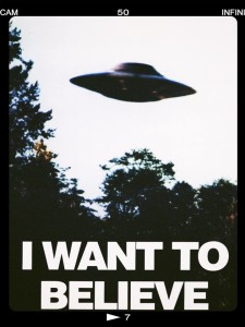 The poster in Agent Mulder's office. Image from the official X-Files Facebook page.