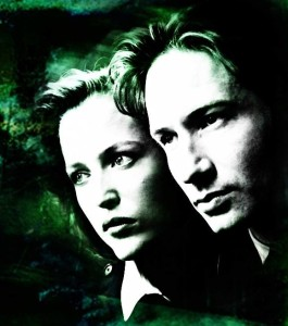 Special Agents Fox Mulder and Dana Scully. From the official X-Files Facebook page.