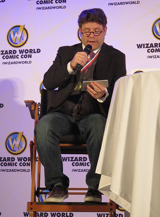 "Sean Astin reads the Prologue of Terry Pratchett's ""The Colour of Magic."" Image Taken by Pamela Poole"