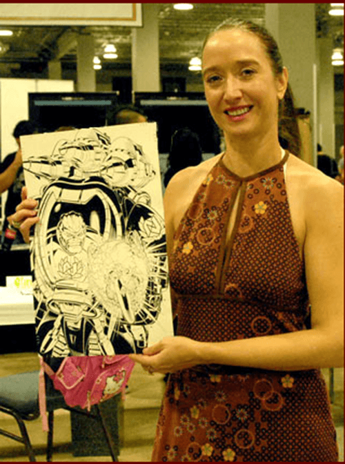 Renee Witterstaetter showcases some of her work. Courtesy of Renee Witterstaetter and Eva Ink.