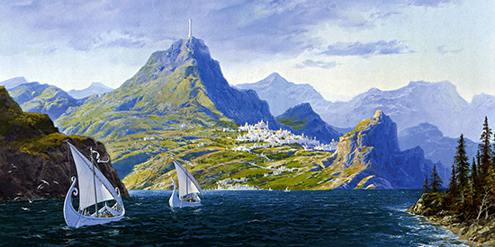 The Silmarillion cover art by Ted Nasmith