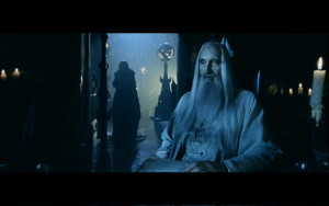 "Saruman and Grima Wormtongue in ""The Two Towers."" Image from http://scrapbook.theonering.net/scrapbook/movies/characters/saruman/view/7929"