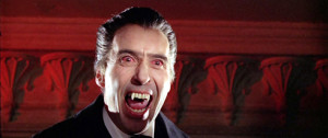 "Sir Christopher Lee as Dracula in ""Dracula Prince of Darkness."" Image from http://www.classic-monsters.com/dracula-prince-of-darkness-hammer-1965/"