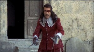 "Sir Christopher Lee as Rochefort in ""The Four Musketeers."" Image from http://horrorcultfilms.co.uk/2015/06/doc-says-a-few-words-about-christopher-lee-and-picks-his-ten-favourite-lee-performances/"